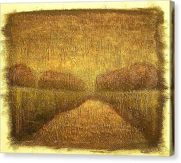 Wood Lake Sunrise Canvas Print by Jaylynn Johnson