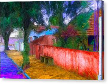 Wood Plank House In Rebelshire Canvas Print by Caito Junqueira