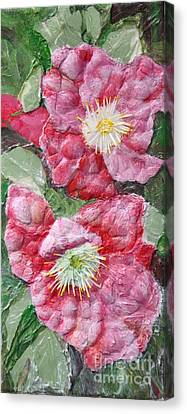 Canvas Print featuring the painting Wood Roses by Terri Thompson