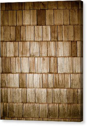 Wood Shingles Canvas Print by Frank Tschakert