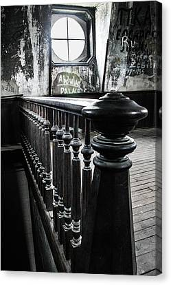 Woodburn Stairway To Tower Canvas Print by Jacki Marino