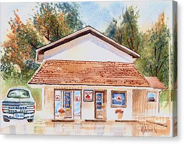 Woodcock Insurance In Watercolor  W406 Canvas Print by Kip DeVore