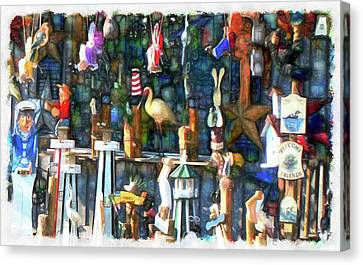 Finger Lakes Canvas Print - Woodcraft Giftshop In Montour Falls by Leslie Montgomery