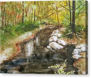Wooded Creek Canvas Print