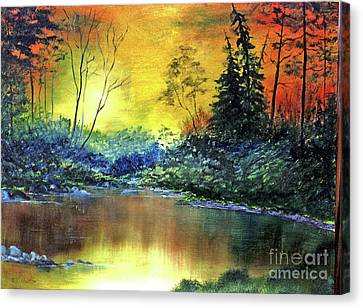 Wooded Serenity Canvas Print by Dee Flouton