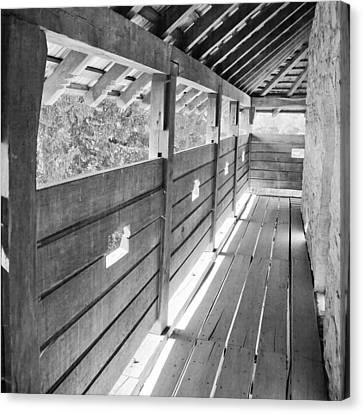 Wooden Platform Canvas Print - Wooden Balcony by Gabriela Insuratelu