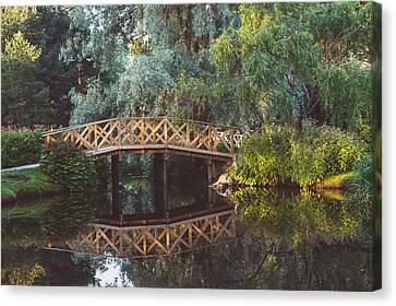 Canvas Print featuring the photograph Wooden Bridge by Ari Salmela