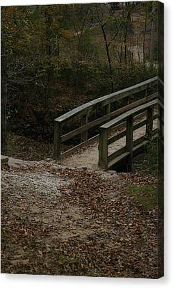 Canvas Print featuring the photograph Wooden Bridge by Kim Henderson