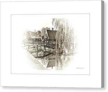 Wooden Bridge Canvas Print by Maciek Froncisz