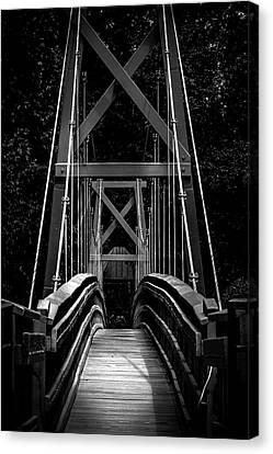 Wooden Bridge On Buffalo Bayou Canvas Print