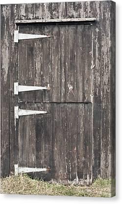 Wooden Cabin Door Canvas Print by Tom Gowanlock