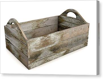 Wooden Box Canvas Print - Wooden Carry Crate by Allan Swart