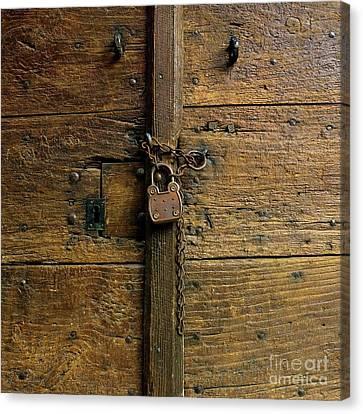 Wooden Door Canvas Print by Bernard Jaubert