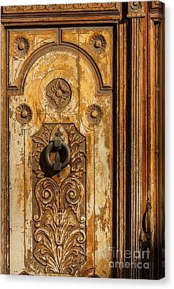 Wooden Door Canvas Print by Lutz Baar