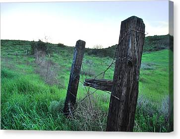 Canvas Print featuring the photograph Wooden Gate In Field by Matt Harang