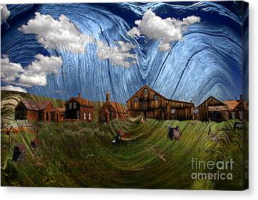 Wooden Ghost Town Canvas Print by Ronald Hoggard