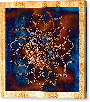 Wooden Mandala Canvas Print by Hakon Soreide