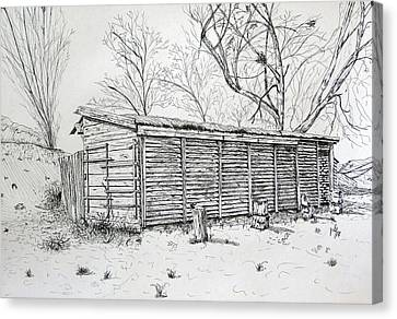Old Shed Canvas Print - Wooden Shed by Maria Woithofer