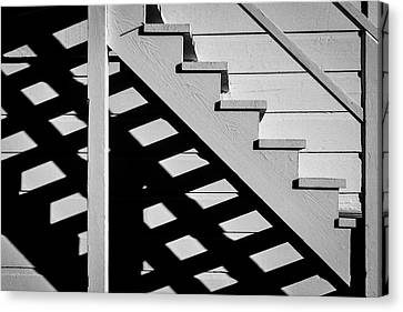 Wooden Stairs Canvas Print by Garry Gay
