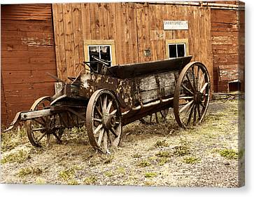 Wooden Wagon Canvas Print by Jeff Swan