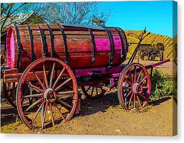Wooden Water Wagon Canvas Print by Garry Gay