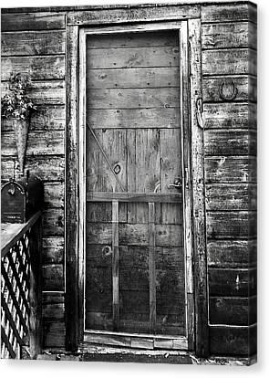 Cabin Door Canvas Print