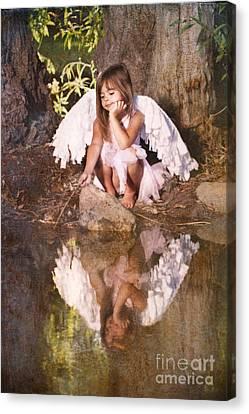 Woodland Fairy Canvas Print by Cindy Singleton