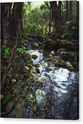 Woodland Stream Canvas Print by Cynthia Decker