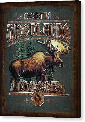 Woodlands Moose Canvas Print by JQ Licensing