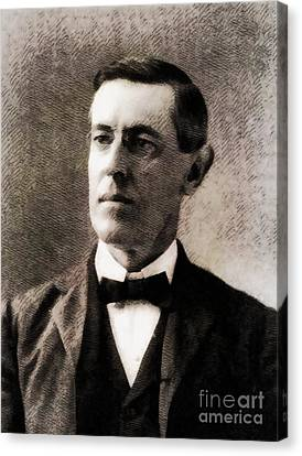 Woodrow Wilson, President Of The United States By John Springfield Canvas Print
