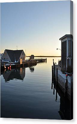 Woods Hole In Winter Canvas Print