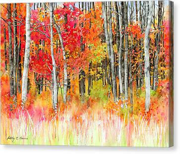 Woodsy Forest Canvas Print by Hailey E Herrera