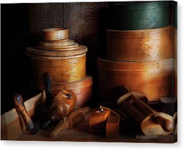 Woodworker - Shaker Box Shop  Canvas Print by Mike Savad