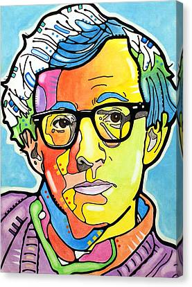 Canvas Print featuring the painting Woody Allen by Dean Russo