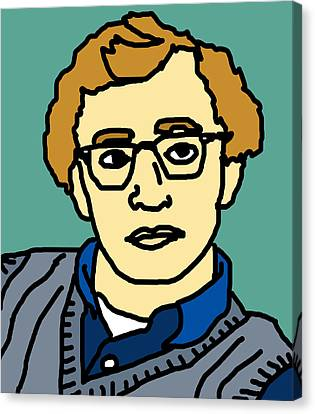Woody Allen Canvas Print by Jera Sky