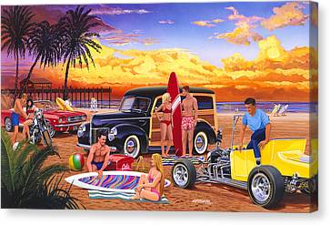 Woody Beach Canvas Print