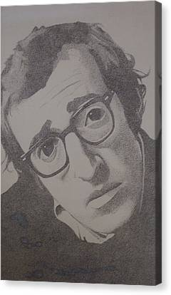 Woody Allen Canvas Print - Woody by Dale Powell