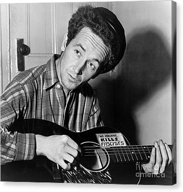 Woody Guthrie (1912-1967) Canvas Print by Granger