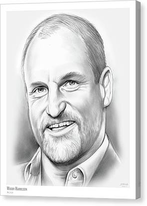 Woodies Canvas Print - Woody Harrelson by Greg Joens