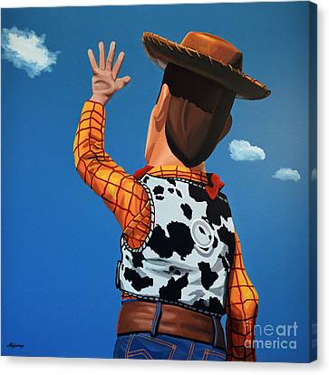 Ghost Story Canvas Print - Woody Of Toy Story by Paul Meijering