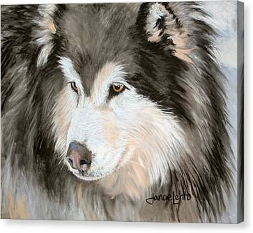 Malamute Canvas Print - Woolly Malamute by Janae Lehto