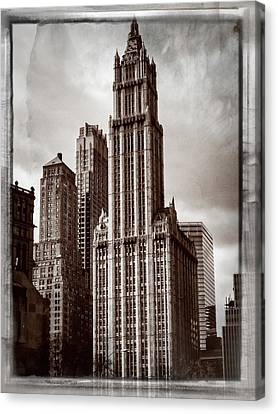Woolworh Building 2008. Canvas Print by Frank Winters