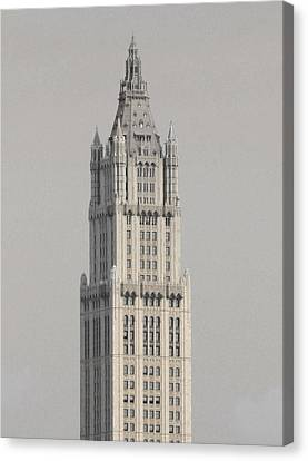 Woolworth  Black And White Two Canvas Print by Christopher Kirby