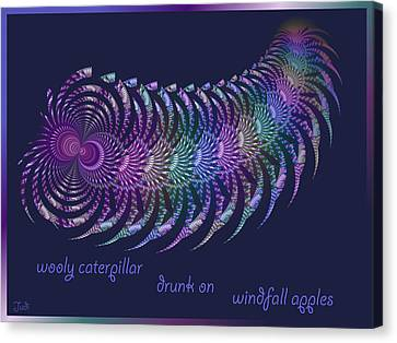 Wooly Caterpillar Haiga Canvas Print by Judi Suni Hall