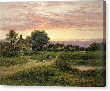 Worcestershire Cottages Canvas Print