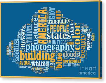 Word Cloud Of Popular Faa Keywords Canvas Print by Edward Fielding