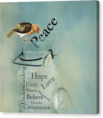 Canvas Print featuring the photograph Peace by Robin-Lee Vieira