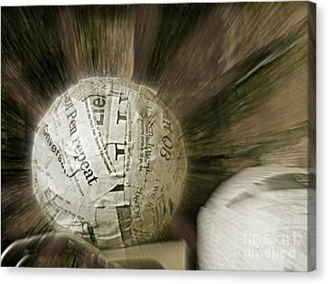 Canvas Print featuring the photograph Word Shredder by Kristine Nora