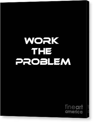 Work The Problem The Martian Tee Canvas Print by Edward Fielding