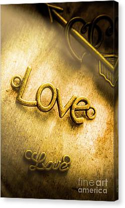 Words And Letters Of Love Canvas Print